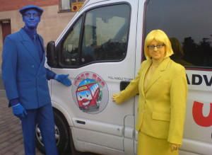 painted bus drivers